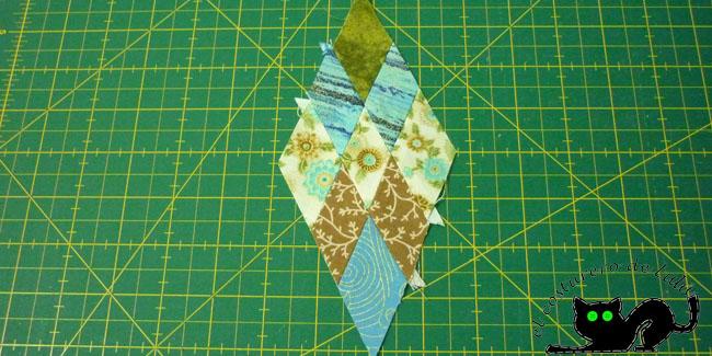 Este es el rombo que obtenemos después de coser.