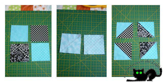 Hacemos los cuadrados formados por triángulos