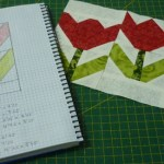 Practicando con patrones: tulipanes rojos