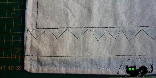 Cosemos las costuras por el revés