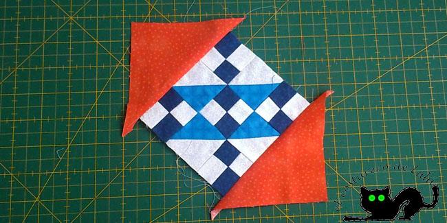 Cosemos primero los dos triángulos opuestos