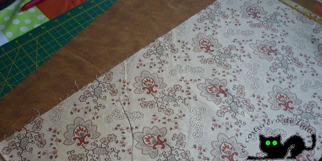 Estas son las telas que voy a utilizar para la cesta