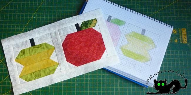Las manzanas con el patrón al revés