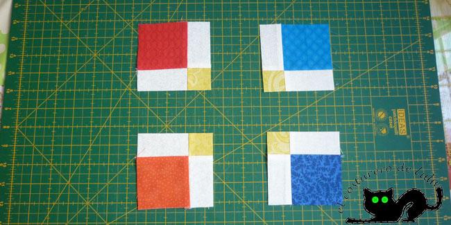 Separamos nuestros cuatro cuadrados resultantes