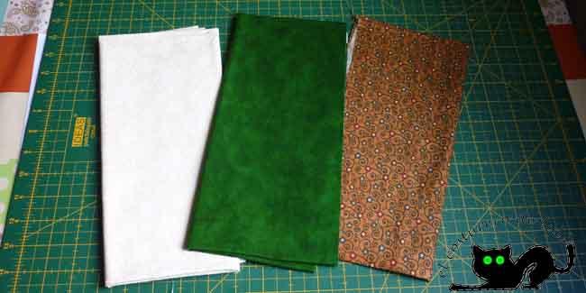 Estas son las telas que utilizaré para mi árbol