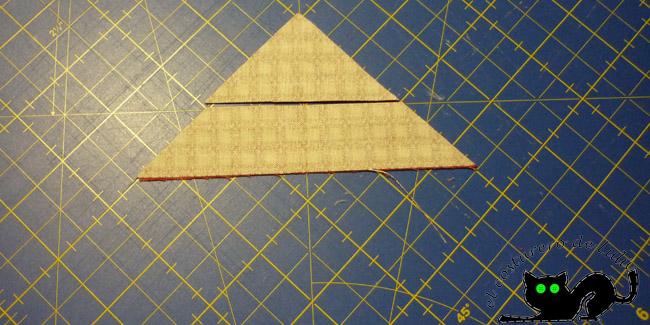 Cortamos el triángulo en dos
