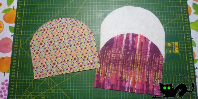 Preparamos las telas que usaremos para el estuche