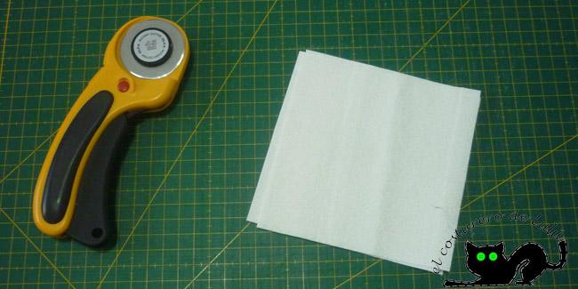 Preparamos nuestros cuadrados blancos