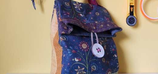 El botón con bolso terminado