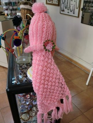 Gorro de lana con bufanda a juego