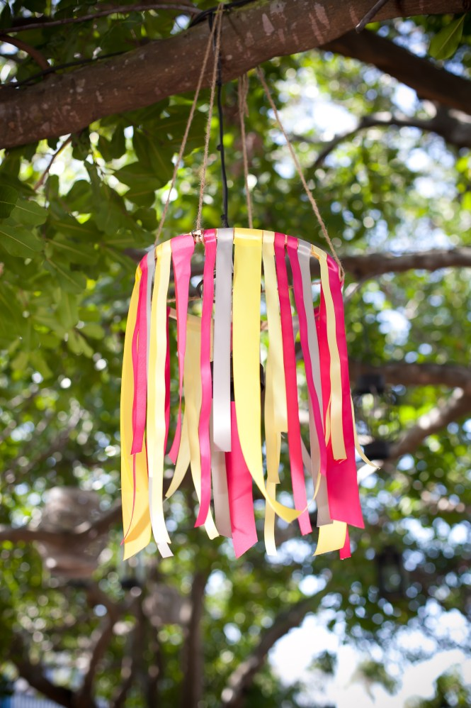Detail To Love Ribbon Chandelier Via Theeld