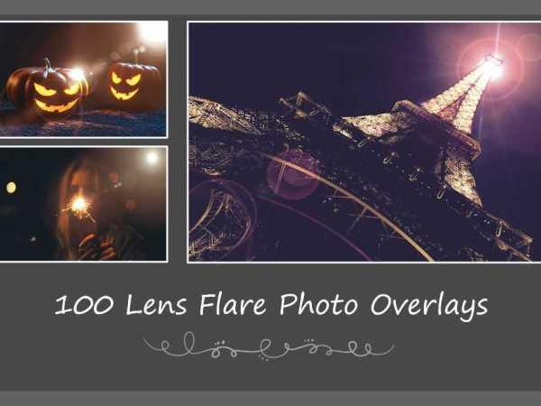 100 Lens Flare Photo Overlays