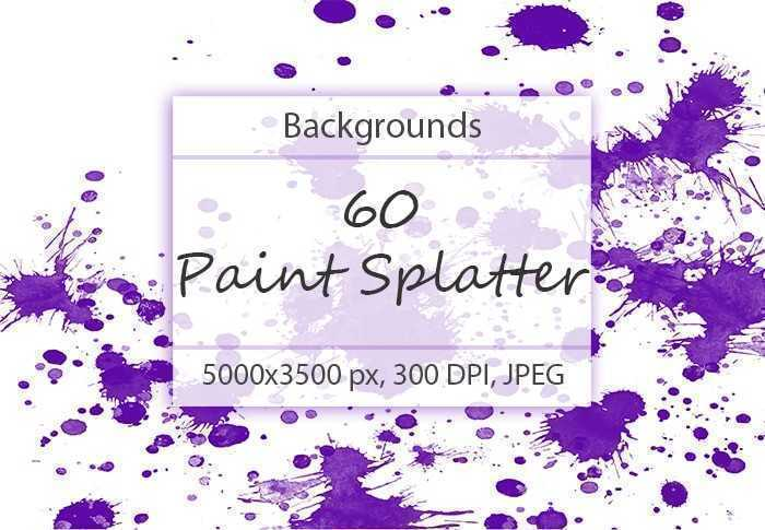 60 Paint Splatter Backgrounds-min