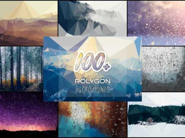 100+ Polygon Backgrounds