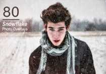 80 Snowflake Photo Overlays-min