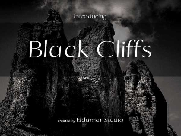 Black Cliffs Font