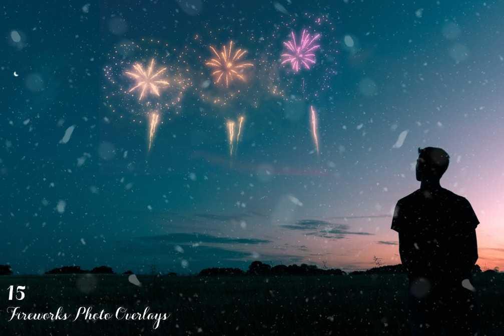 15 Fireworks Photo Overlays