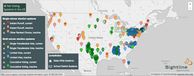 Fair Voting Systems map screenshot