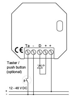 RCJ18 Flush-mounted dimmer for LEDs