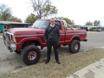Elder Brown and another vehicle