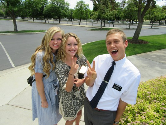 Sister Clegg and Jenna at the Temple