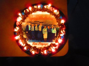 A cake my investigator Jasper bought for me cause I was leaving and my old companion because it was his birthday!