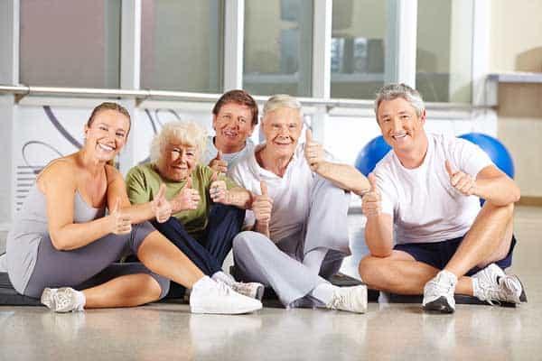 Stretches Elderly Body Upper
