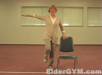 chair games for seniors covers recliners falls in the elderly and seniors; clock reach - eldergym® senior fitness