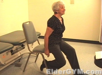 30 minutes in chair exercises for seniors burgundy wingback chairs ankle stretching and the elderly