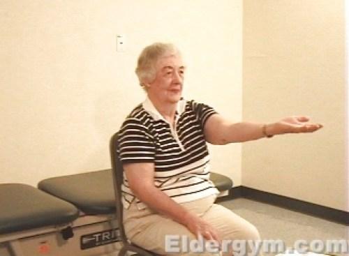 Triceps stretch start
