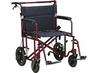 """Aluminum Bariatric Transport Chair with 12"""" Wheels, Drive ..."""