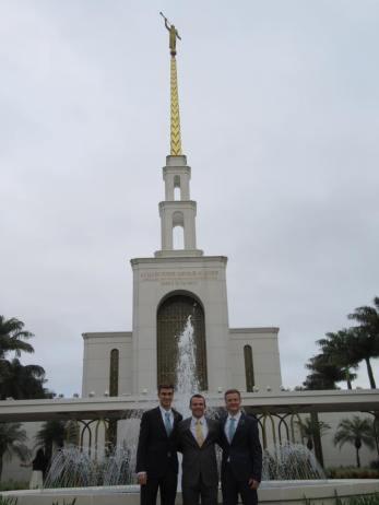 Companions at Sao Paulo Temple