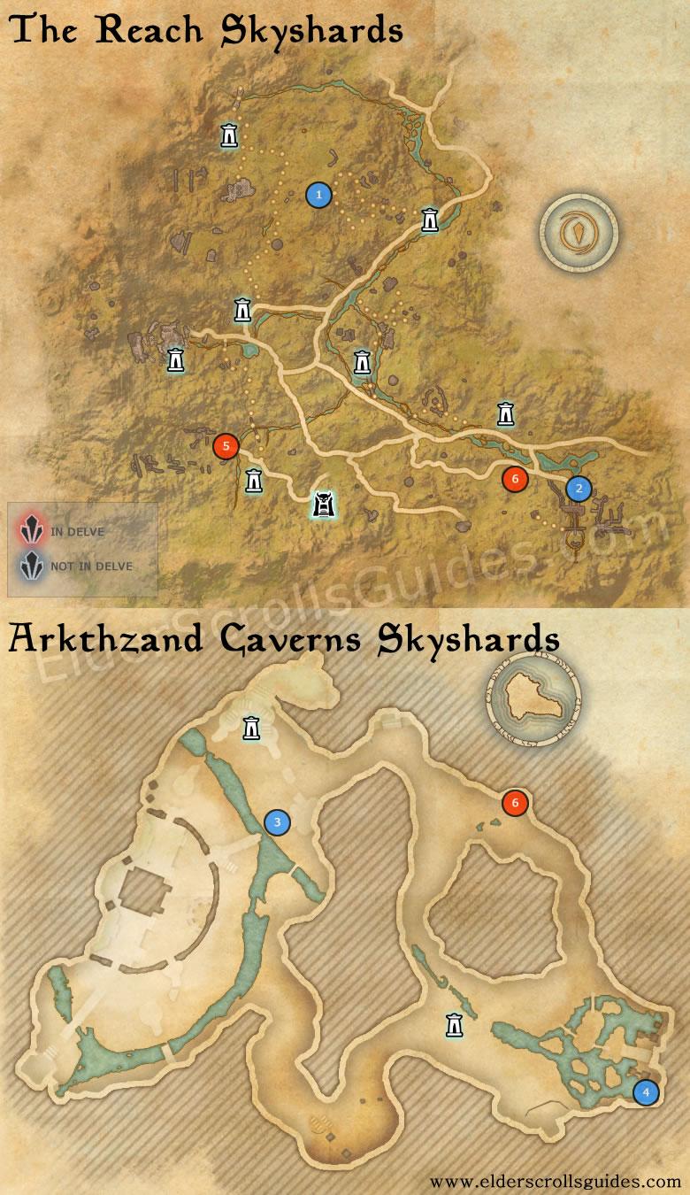 Stros M Kai Map : stros, Reach, Arkthzand, Cavern, Skyshards, Elder, Scrolls, Online, Guides