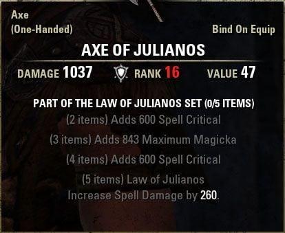 ensemble loi de julianos