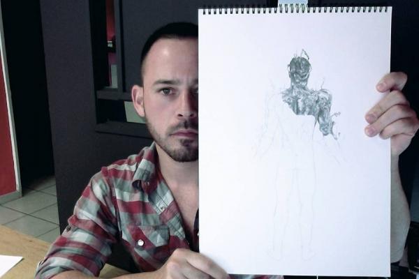 El diseñador, Iván Camargo.