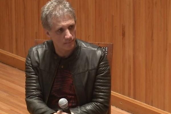Charly Alberti durante la conferencia de apertura de FIMPro.