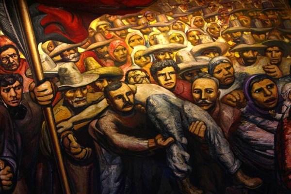 """Mural de Siqueiros, """"La revolución contra la dictadura porfiriana"""". Foto: El Universal."""