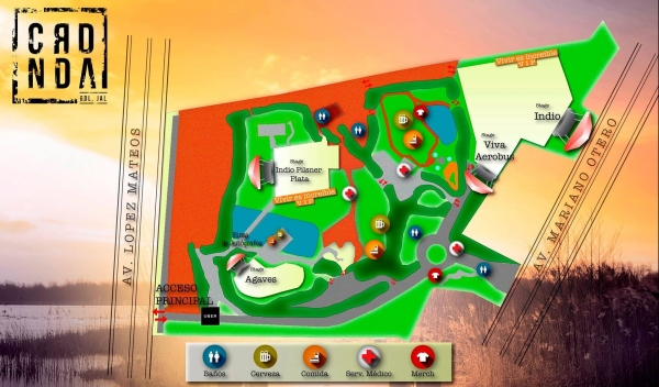 Mapa del lugar.