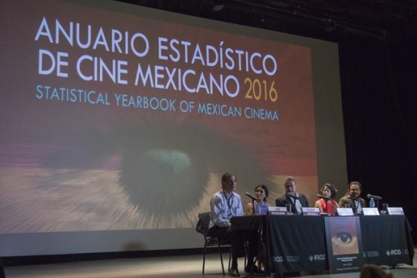 Presentación del Anuario Estadístico del Cine Mexicano 2016 realizado por IMCINE.