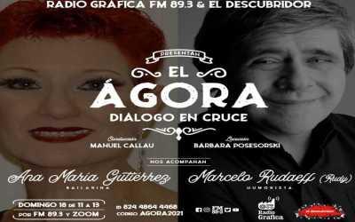 el Ágora – Diálogo en cruce – Encuentro N°2 Ana María Gutiérrez y Rudy
