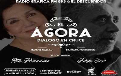 el Ágora – Diálogo en cruce – Encuentro N°3 Rita Terranova y Jorge Eines desde Madrid (España).