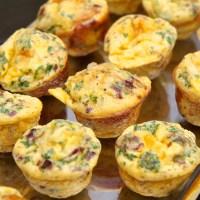 Eggja- og beikonmúffur