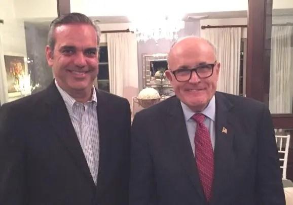 Giuliani llega el martes a dar continuidad al plan de seguridad de Abinader