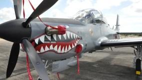 El País/En la Foto Grafica de los Aviones Súper Tucanos En la Base Aereas de San Isidro./29-10-2010.Hoy/Pablo Matos