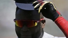 Boston Red Sox's David Ortiz tips his cap to fans prior to a baseball game against the Oakland Athletics, Sunday, Sept. 4, 2016, in Oakland, Calif. (AP Photo/Ben Margot)