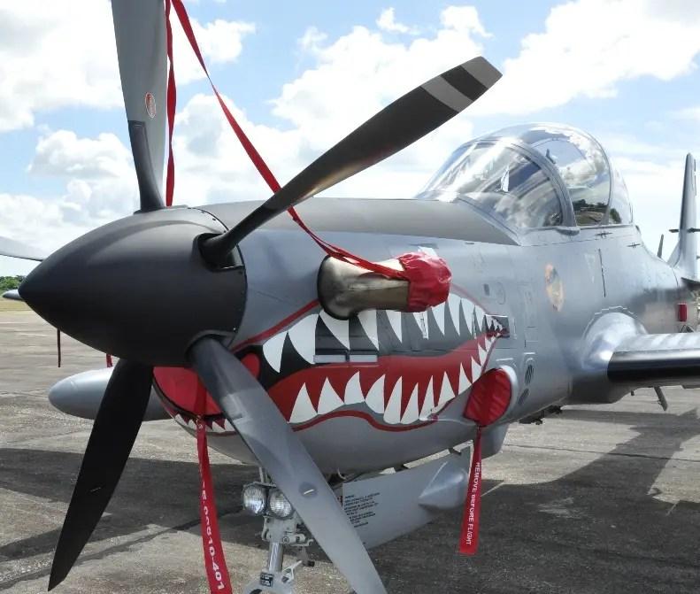 El País/En la Foto Grafica de los Aviones Súper Tucanos En la Base Aereas de San Isidro./29-10-2010/Hoy/Pablo Matos