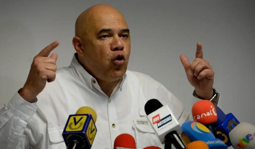 Jesús Torrealba, secretario ejecutivo de la coalición Mesa de la Unidad Democrática (MUD). AFP