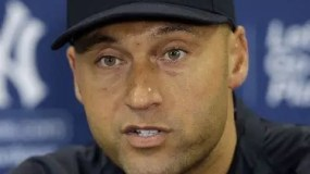 FILE - In this Feb. 19, 2014, file photo, New York Yankees shortstop Derek Jeter speaks during a news conference, in Tampa, Fla. Jeter's No. 2 is being retired, the last of the New York Yankees' single digits. The Yankees said Tuesday, Dec. 6, 2016, the number will be retired on May 14 before a Mother's Day game against Houston, and a plaque in his honor will be unveiled in Monument Park during the ceremony.  (AP Photo/Chris O'Meara, File)