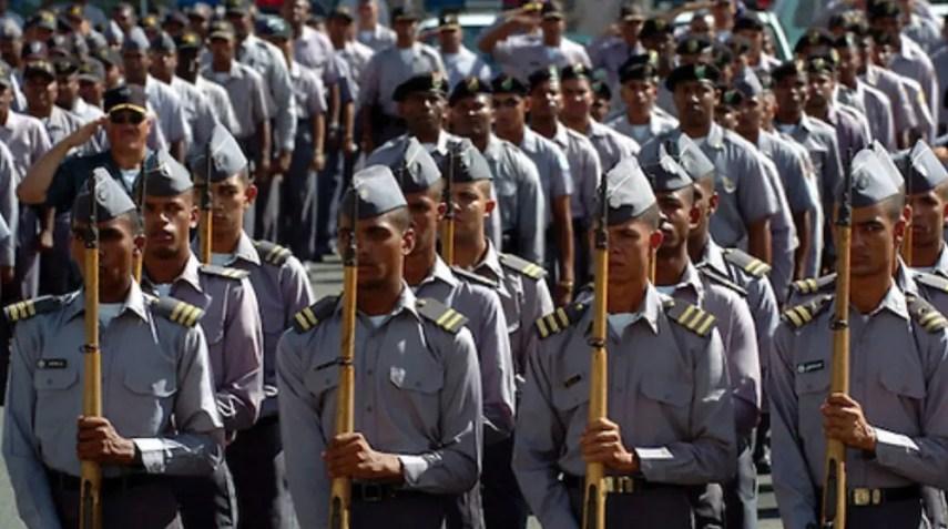 Miembros de la Policia Nacional Dominicana. Lugar:Santo Domingo, RD Foto:Cesar de la Cruz Fecha: