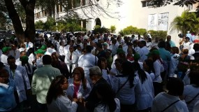 La marcha partió de la MAaternidad La Altagracia. Foto: @Telenoticiasrd.